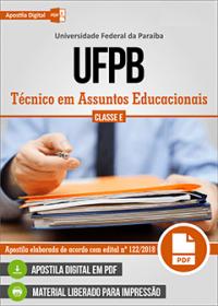 Técnico em Assuntos Educacionais - UFPB