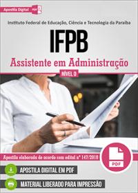 Assistente em Administração - IFPB
