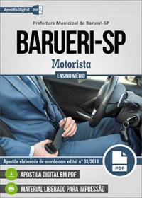 Motorista - Prefeitura de Barueri - SP