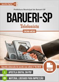 Telefonista - Prefeitura de Barueri - SP