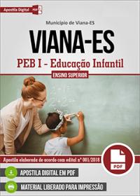 PEB I - Educação Infantil - Prefeitura de Viana - ES
