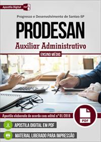 Auxiliar Administrativo - PRODESAN