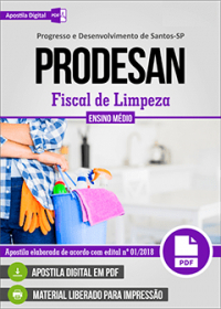 Fiscal de Limpeza - PRODESAN