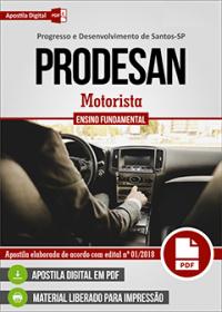 Motorista - PRODESAN