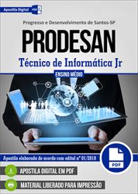 Técnico de Informática Jr - PRODESAN