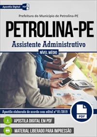 Assistente Administrativo - Prefeitura de Petrolina - PE