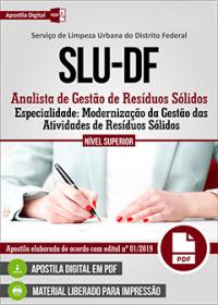 Analista de Gestão de Resíduos Sólidos - Modernização da Gestão - SLU - DF