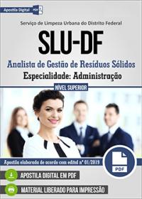 Analista de Gestão de Resíduos Sólidos - Administração - SLU - DF
