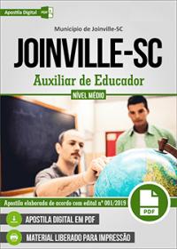 Auxiliar de Educador - Prefeitura de Joinville - SC