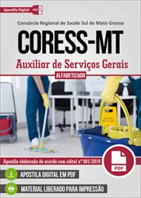 Auxiliar de Serviços Gerais - CORESS - MT