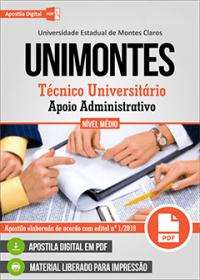 Técnico Universitário - Apoio Administrativo - UNIMONTES