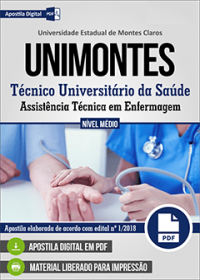 Técnico Universitário da Saúde - Assistência Técnica em Enfermagem - UNIMONTES