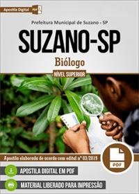 Biólogo - Prefeitura de Suzano - SP
