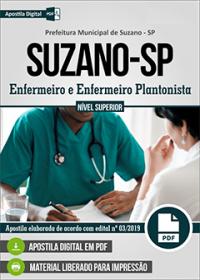 Enfermeiro e Enfermeiro Plantonista - Prefeitura de Suzano - SP