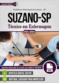 Técnico em Enfermagem - Prefeitura de Suzano - SP