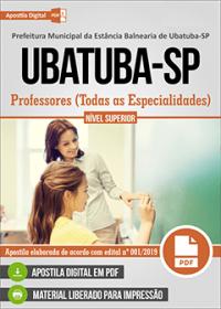 Professores - Todas as Especialidades - Prefeitura de Ubatuba - SP