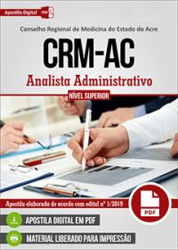 Analista Administrativo - CRM-AC
