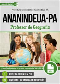 Professor de Geografia - Prefeitura de Ananindeua - PA