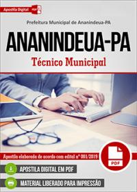 Técnico Municipal - Prefeitura de Ananindeua - PA