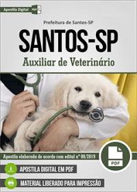 Auxiliar de Veterinário - Prefeitura de Santos - SP