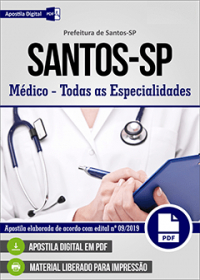 Médico - Todas as Especialidades - Prefeitura de Santos - SP
