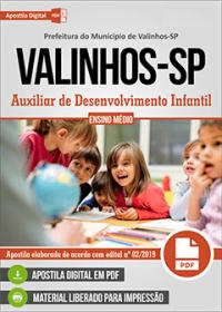 Auxiliar de Desenvolvimento Infantil - Prefeitura de Valinhos - SP