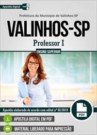 Professor I - Prefeitura de Valinhos - SP