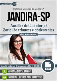 Auxiliar de Cuidador Social - Prefeitura de Jandira - SP
