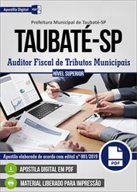 Auditor Fiscal de Tributos Municipais - Prefeitura de Taubaté - SP