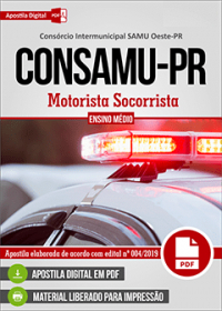 Motorista Socorrista - CONSAMU-PR