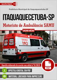 Motorista de Ambulância SAMU - Prefeitura de Itaquaquecetuba - SP