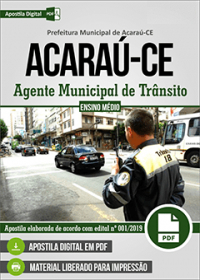 Agente Municipal de Trânsito - Prefeitura de Acaraú - CE
