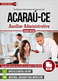 Auxiliar Administrativo - Prefeitura de Acaraú - CE