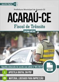 Fiscal de Trânsito - Prefeitura de Acaraú - CE