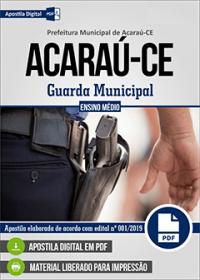 Guarda Municipal - Prefeitura de Acaraú - CE