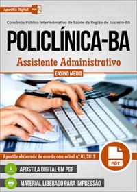 Assistente Administrativo - POLICLÍNICA - Juazeiro - BA
