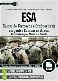Cursos de Formação Sargentos Geral-Aviação - Música - Saúde - ESA