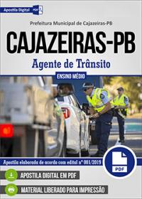 Agente de Trânsito - Prefeitura de Cajazeiras - PB