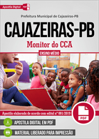 Monitor do CCA - Prefeitura de Cajazeiras - PB