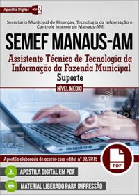 Assistente Técnico - Suporte - SEMEF Manaus-AM