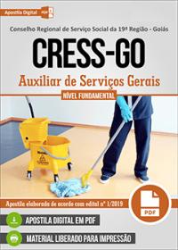 Auxiliar de Serviços Gerais - CRESS-GO