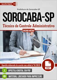 Técnico de Controle Administrativo - Prefeitura de Sorocaba - SP
