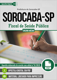 Fiscal de Saúde Pública - Prefeitura de Sorocaba - SP