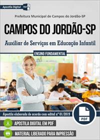 Auxiliar de Serviços em Educação Infantil - Prefeitura de Campos do Jordão-SP