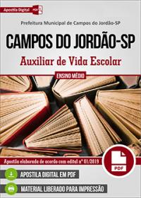 Auxiliar da Vida Escolar - Prefeitura de Campos do Jordão-SP