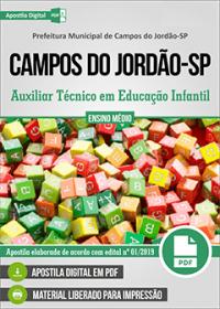 Auxiliar Técnico em Educação Infantil - Prefeitura de Campos do Jordão-SP