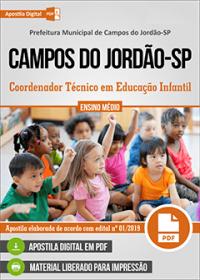 Coordenador Técnico em Educação Infantil - Prefeitura de Campos do Jordão-SP
