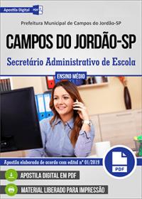 Secretário Administrativo de Escola - Prefeitura de Campos do Jordão-SP
