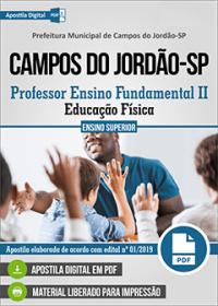 Professor Ensino Fundamental II - Ed. Física - Prefeitura de Campos do Jordão-SP