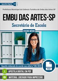 Secretário de Escola - Prefeitura de Embu das Artes - SP